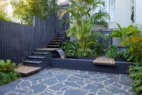 East Balmain water feature and landscape design by Bell Landscapes, Sydney.