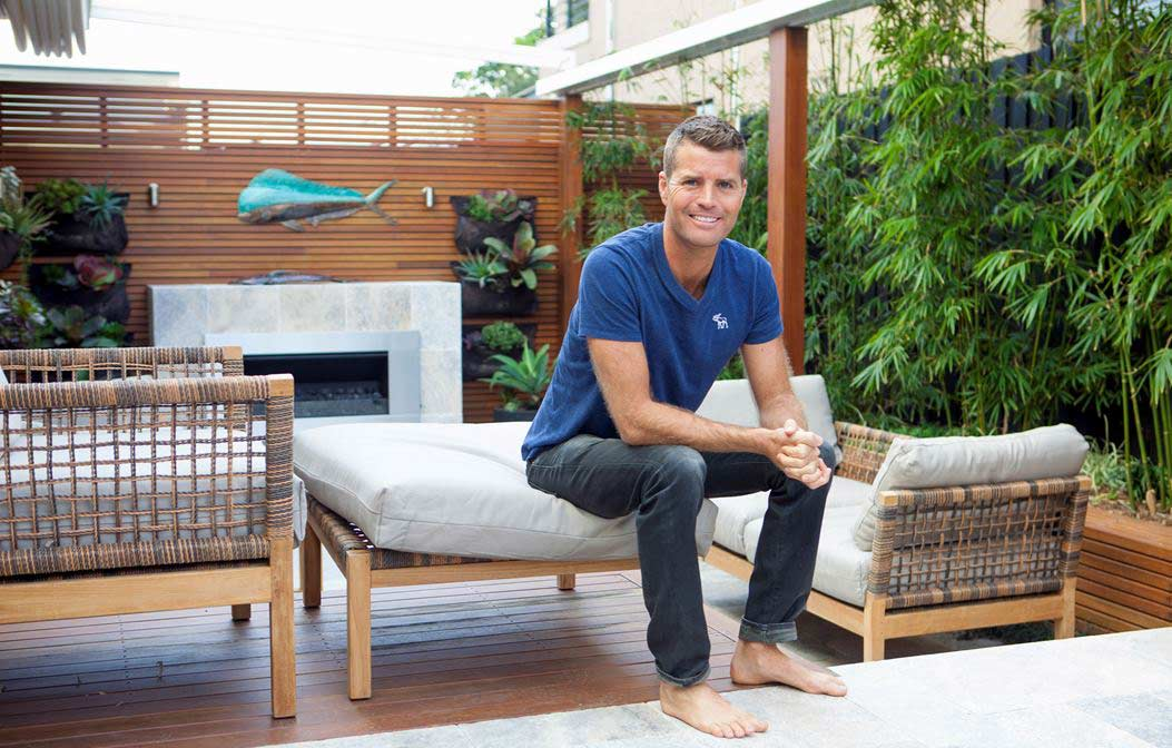 Chef Pete Evans home garden landscaping and vertical hanging garden by Bell Landscapes, Sydney.