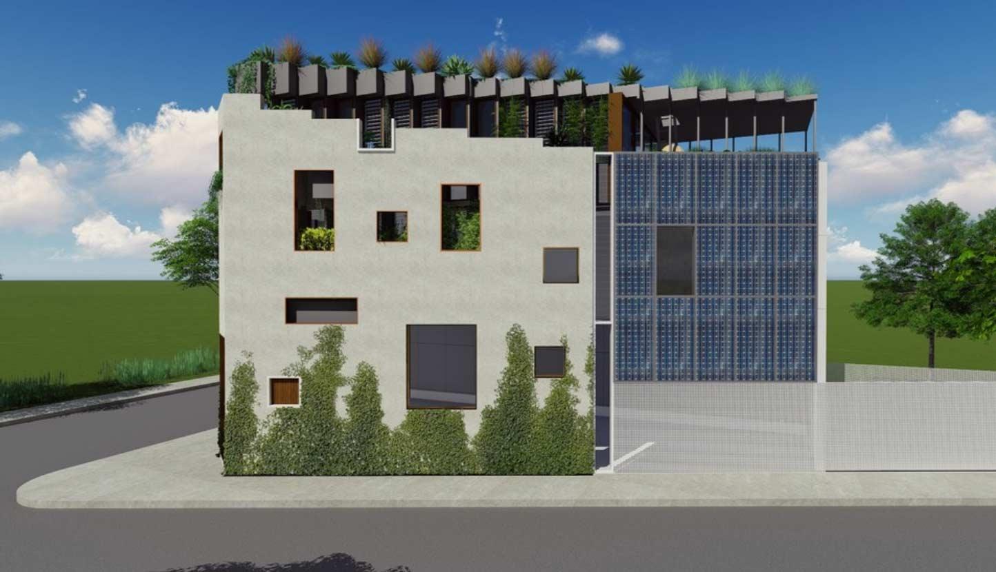Darlington rooftop apartment complex garden design concept by Bell Landscapes, Sydney.