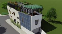 Darlington rooftop apartment complex garden design concept by Bell Landscapes, Sydney.