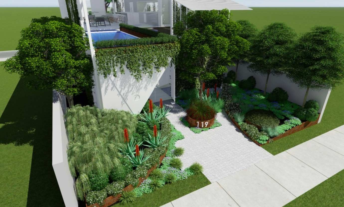 Clovelly garden design concept by Bell Landscapes, Sydney.