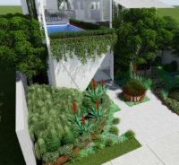 Clovelly garden design concept by Bell Landscapes, Sydney.