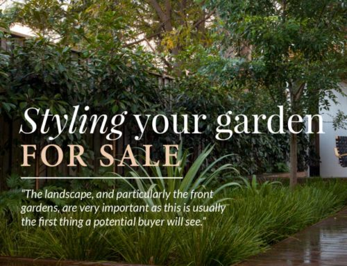 Styling your garden for sale